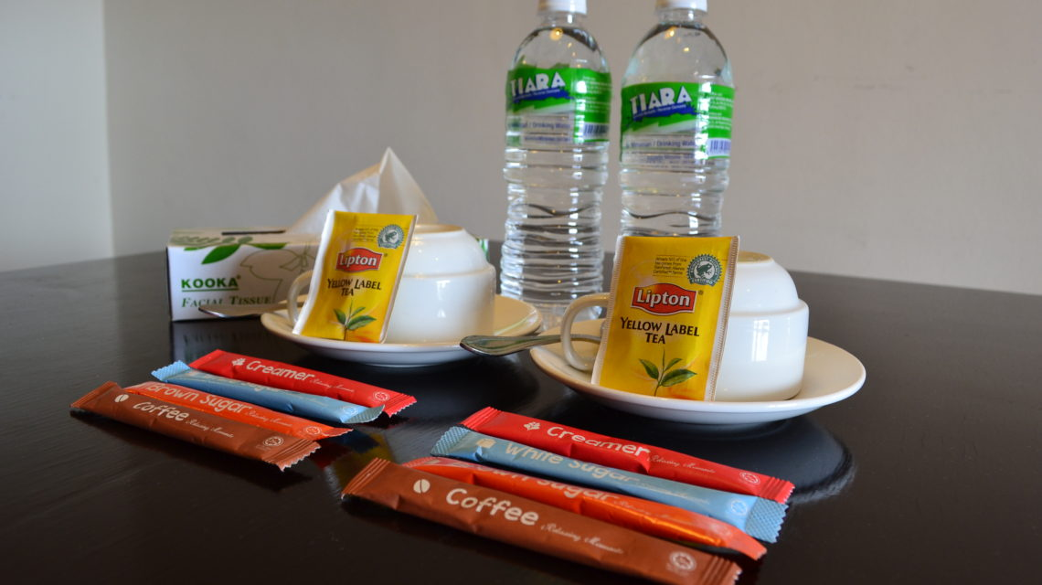Complimentary Bottle Water, Tea & Coffee